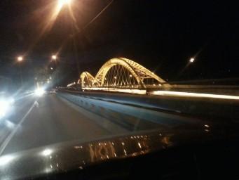 Ночной борский мост