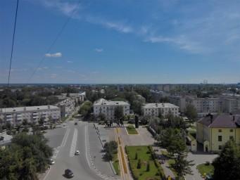 Центр города Бор с бооольшой высоты