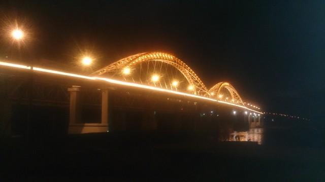 Огни нового борского моста