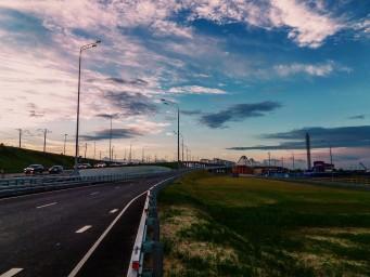 На подъезде к новому борскому мосту