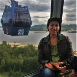 Елена Борщева на борской канатной дороге