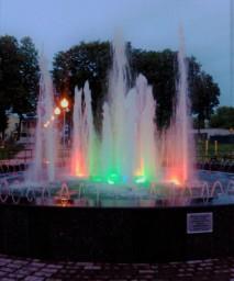 Светомузыкальный фонтан. Сквер им. 70-летия Победы